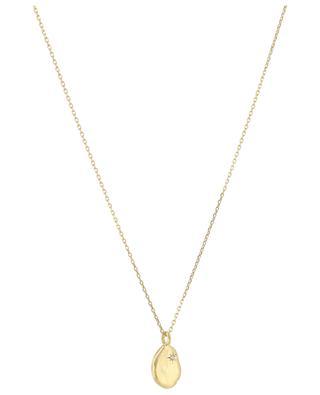 Goldene Halskette mit weissem Topas Rosalie MONSIEUR PARIS
