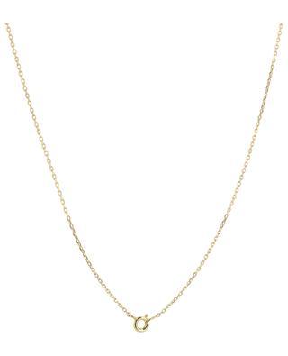 Rosalie golden necklace with white topaz MONSIEUR PARIS