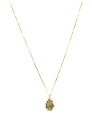 Goldene Halskette mit Smaragd Rosalie MONSIEUR PARIS