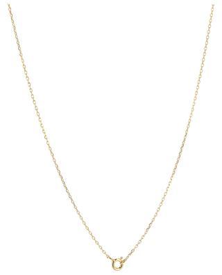 Rosalie golden necklace with emerald MONSIEUR PARIS