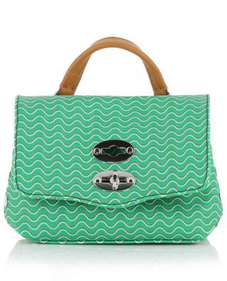 Mikro-Handtasche aus bedrucktem Leder Postina Superbaby Blandine ZANELLATO