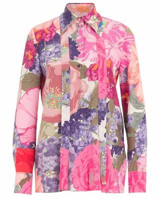 Hemd aus Seide mit Print und Schluppe Mix Flowers VALENTINO