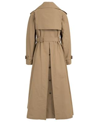 Cotton blend trench coat with leather details VALENTINO