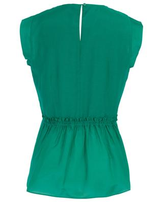 Sleeveless cotton and silk blend top MARC CAIN