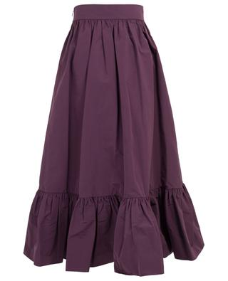Cotton blend ruffled midi skirt VALENTINO