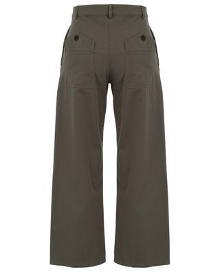 Gabardine-Hose mit hohem Taillenbund und weitem Bein VGOLD VALENTINO
