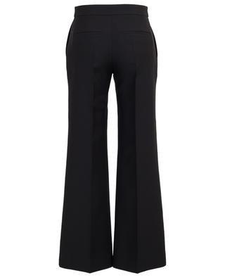 Virgin wool and silk wide leg trousers VALENTINO