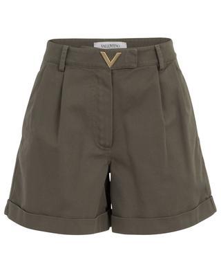 Shorts mit Umschlag aus Gabardine VGOLD VALENTINO