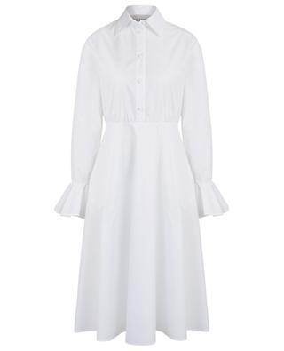 Robe chemise en coton mélangé manches cloches VALENTINO