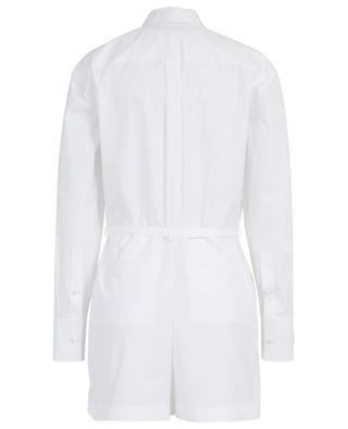 Long-sleeved cotton poplin playsuit VALENTINO
