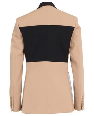 Double-breasted blazer with contrasting lapel and pockets STELLA MCCARTNEY