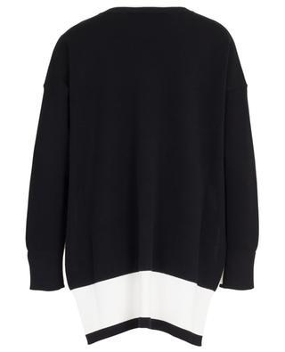 Weiter Pullover aus nachhaltiger Viskose und Baumwolle STELLA MCCARTNEY