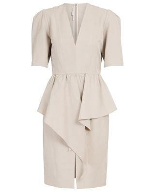 Robe ajustée à basques en coton et lin STELLA MCCARTNEY