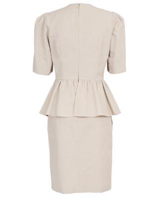 Schmales Kleid mit Schösschen aus Baumwolle und Leinen STELLA MCCARTNEY
