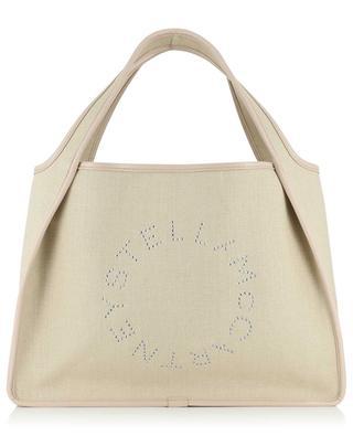 Sac cabas en lin et cuir synthétique Stella Logo STELLA MCCARTNEY