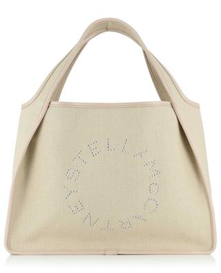 Stella Logo linen and faux leather tote bag STELLA MCCARTNEY