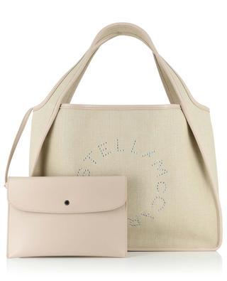 Shopper aus Leinen und Kunstleder Stella Logo STELLA MCCARTNEY