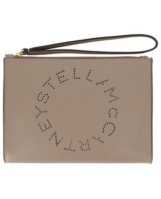 Stella Logo faux leather clutch STELLA MCCARTNEY