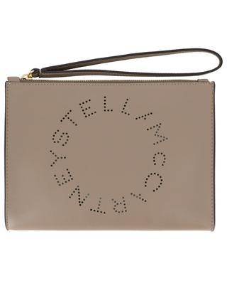 Stella Logo faux leather clutch STELLA MCCARTNEY
