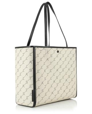 Monogram small fabric and faux leather tote bag STELLA MCCARTNEY