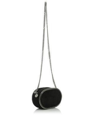 Zip Falabella small oval faux suede camera bag STELLA MCCARTNEY