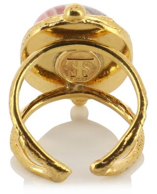 Goldener offener Ring mit Rhodochrosit Grande Ovale SYLVIA TOLEDANO