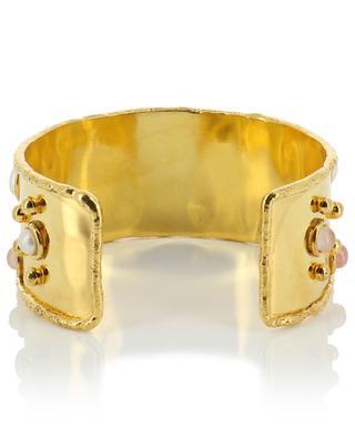 Goldene Manschette mit Rhodocrosit Byzance SYLVIA TOLEDANO