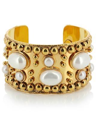 Goldene Manschette mit Perlen Wonder Byzance SYLVIA TOLEDANO
