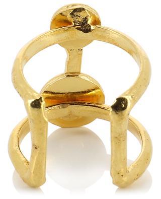 Offener goldener Ring mit Perlen Résille SYLVIA TOLEDANO
