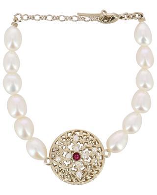 Perlenarmband mit Detail aus Metall in Spitzenoptik Linda SATELLITE