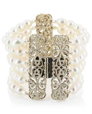 Linda pearl cuff with lace effect details SATELLITE