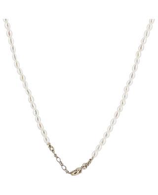 Collier de perles avec petit pendentif dentelle Linda SATELLITE