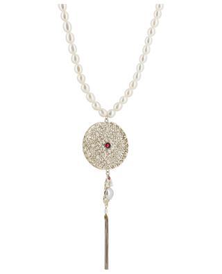 Perlenkette mit grossem Spitzenanhänger Linda SATELLITE