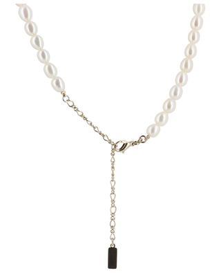 Collier de perles avec grand pendentif dentelle Linda SATELLITE