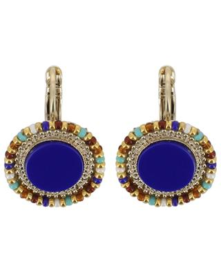 Claudia lapis lazuli adorned earrings SATELLITE
