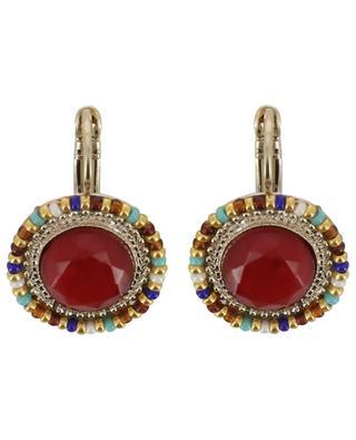 Boucles d'oreilles ornées de cabochons rouges Claudia SATELLITE