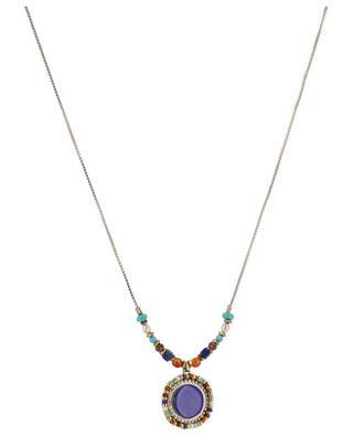 Collier doré orné de lapis-lazuli Claudia SATELLITE