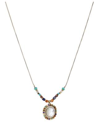 Claudia golden necklace with mother-of-pearl SATELLITE