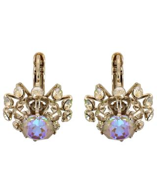 Naomie small earrings with iridescent crystals SATELLITE