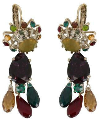 Naomie multicolour earrings with drop pendants SATELLITE