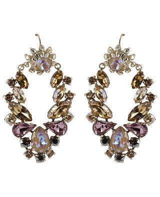 Lange irisierende Ohrringe aus Kristallen Naomie SATELLITE
