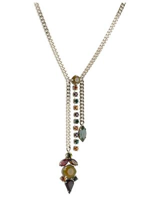 Naomie Y-shaped necklace with multicolour crystals SATELLITE