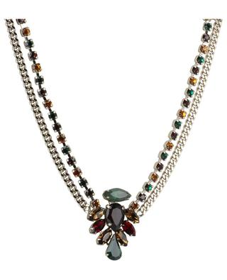 Naomie double multicolour crystal adorned necklace SATELLITE