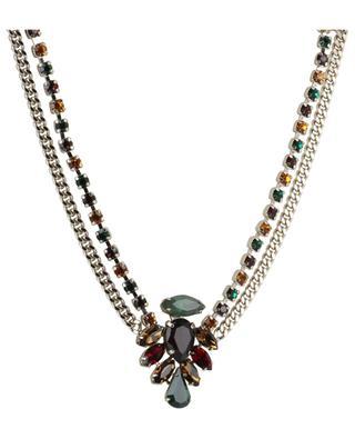 Collier double orné de cristaux multicolores Naomie SATELLITE