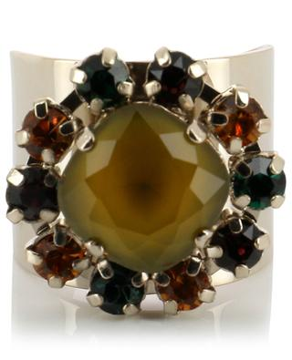 Naomie ring with coloured crystals SATELLITE