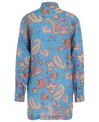 Hemd aus Ramie mit Blüten- und Paisleyprint ETRO
