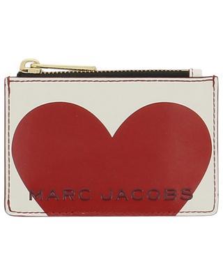 Grosses Kartenetui aus Leder mit Herz-Logo Heart MARC JACOBS