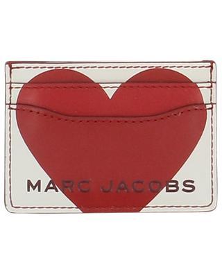 Kartenetui aus Leder mit Herzlogo Heart MARC JACOBS