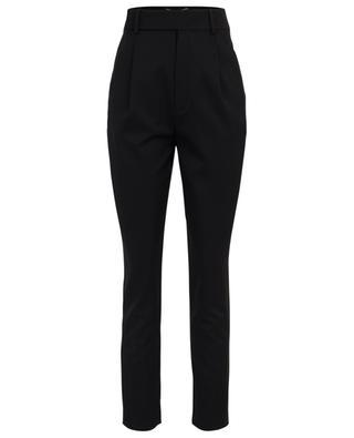 Pantalon taille haute en sergé de laine SAINT LAURENT PARIS