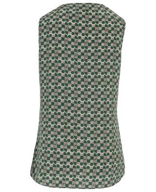 Printed silk sleeveless blouse AKRIS PUNTO